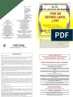 ACTO LAICISTA EN MADRID