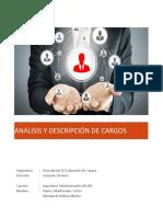 Analisis y Descripción de Cargos