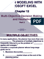 Decision Making with Excel Operations Research