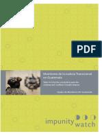 IW Monitoreo de La Justicia Transicional en Guatemala, Tomo II Derecho a La Justicia..