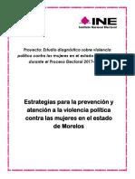 Estrategias para  la prevención y atención a la violencia política contra las mujeres en el esatdo de Morelos
