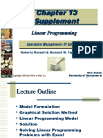 Linear Programming Supplement