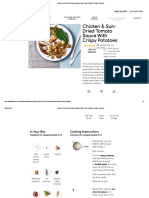 Chicken & Sun-Dried Tomato Sauce With Crispy Potatoes Recipe _ Gousto