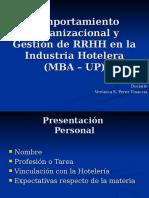 CLASE 1 Comportamiento Organizacional y Gestión de RRHH en La Industria Hotelera