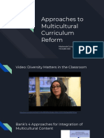 appraoches to multicultural curriculum reform