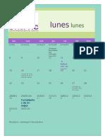 actividad #2 calendario