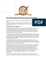 ¿Es relevante el riesgo de tromboembolismo venoso en anticoncepción.pdf