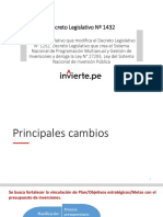 PPT DL 1432 Modificaciones InviertePE