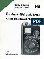 Hb Pontavi Wheatstone 1949 Handbuch