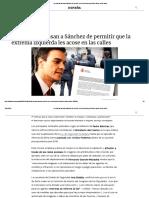 Los Policías Acusan a Sánchez de Permitir Que La Extrema Izquierda Les Acose en Las Calles
