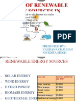 Status of Renewable Energy Sources in India