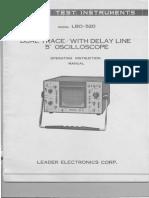 Leader Lbo-520 2x5mv,30mhz Delay Line 5inch Oscilloscope 1977 Sm