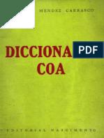 Diccionario Coa,  Armando Méndez Carrasco