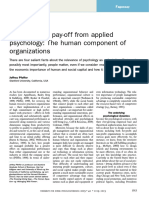 Pfeffer, J. - The Human Component of Organizations