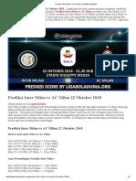 Prediksi Jitu Inter Milan vs AC Milan