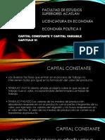 CAPITULO VI Capital Constante Capital Variable