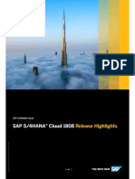 4HANA Cloud 1808 Release Highlights