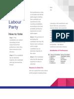touchdown labour party - pamphlet  1