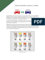 Comparación Entre Los Motores a Gasolina y a Diésel
