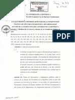 Bicameralidad Modificado Varios Artículos Constitución
