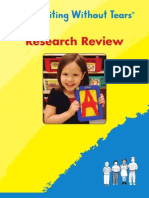 Handwriting Without Tears Research Review