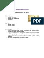 Teks Prosedur Sederhana & Komplek