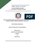 ANÁLISIS E INTERPRETACIÓN DE LOS ESTADOS FINANCIEROS DE LA EMPRESA CAJA MUNICIPAL DE AHORRO Y CREDITO DE AREQUIPA S.A. AÑO 2014-2015