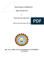 MBA 2nd Sem Syllabus Finance