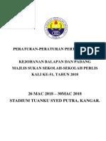 Peraturan b & p Mssps 2018