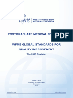 Post-Graduate Medical Education Standards by WFME