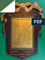 1962 Beacon Lion Honorary Membership to the Beacon Volunteer Ambulance
