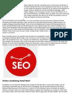 Was ist Online-marketing?