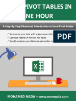 Mohamed Nada - Learn Pivot Tables in One Hour eBook