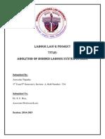 Labour Law Project Main