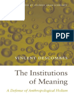 Vincent Descombes, Stephen Adam Schwartz (Translator)-The Institutions of Meaning_ a Defense of Anthropological Holism-Harvard University Press (2014)