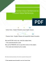 Changing Active Voice Sentences to Passive Voice Sentences