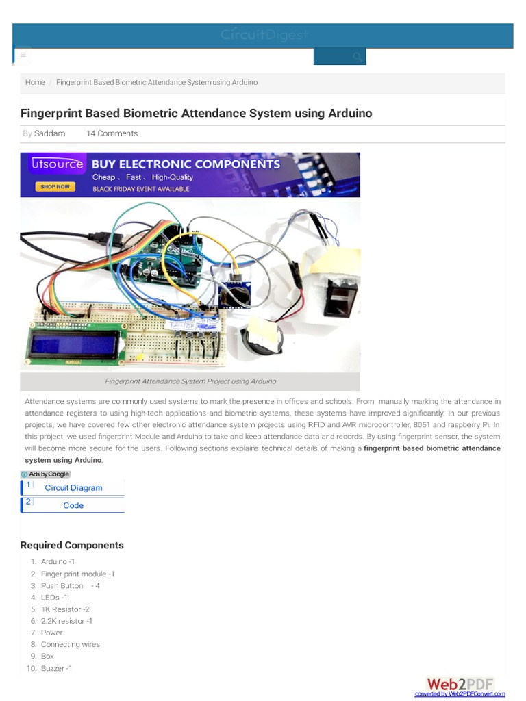 Circuitdigest Com | Fingerprint | Arduino