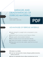 Advantages and Disadvantages of Ferrous Materials