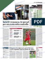 La Provincia Di Cremona 21-10-2018 - Serie B