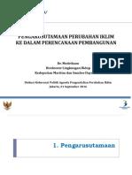 Bapenas Mainstreaming CC 2016 Indonesia