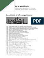 la historia de la tecnologia moderna