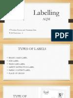 Presentationon Labels