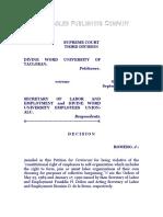 Divine Word University of Tacloban vs. Secretary of Labor and Employment, G. R. No. 91915, Sept. 11, 1992, 213 SCRA 759.pdf
