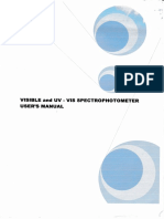 Visible and UV-VIS Spectrophotometer User's Manual