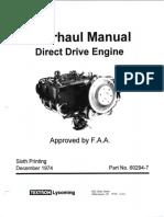 Direct Drive Engine Overhaul Manual 60294-7-13