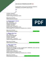 Ejercicios Cálculo Porcentaje de Irpf 2016