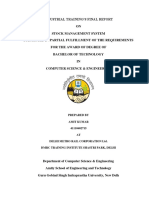 Inventory management system project report