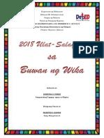 2018 Buwan Ng Wika Ulat Pasalaysay
