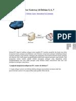 Konfigurasi Router Gateway Di Debian 6.