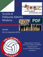 Oferta Staż Modena Styczeń 2019